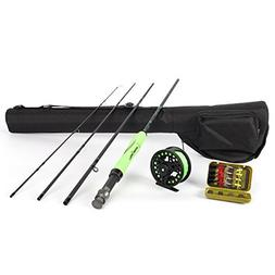ICEWEI Travel Fly Fishing Rod and Reel Combos 4Piece Fishing