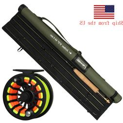 Fly Fishing Rod with Reel Combo 36T Carbon Fiber Fly Rod CNC
