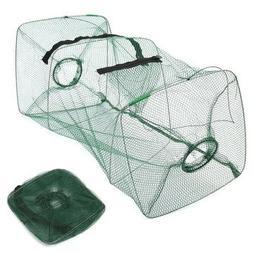 Foldable Fishing Bait Trap Cast Dip Net Cage Crab Fish Minno