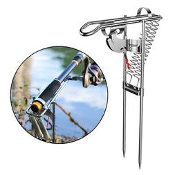 Folding Automatic Fishing Rod Holder Stand Spring Angle Fish