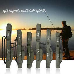 FDDL Portable Fishing Rod Pole Carrier Folding Canvas Gear T