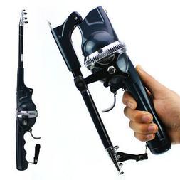 telescopic mini spinning fishing rod and reel