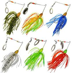 Feccile S-ports & Fit-ness Hard Spinner Fishing Lures Bass F