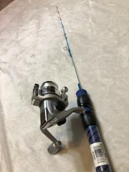 """Ice Blues/Intrigue 24"""" Ultra-Light Ice Fishing Rod and Ree"""
