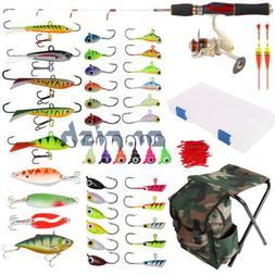 Ice Fishing Complete Kit for Kid/Child/Starter Rod Reel Comb