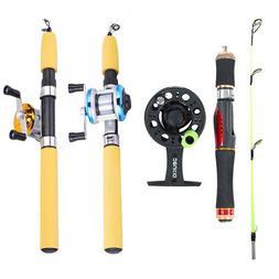 Deukio Ice Fishing Rod and Reel Combo Portable Winter Mini F