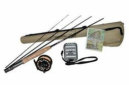 K&E Outfitters Drift Series 3wt Fly Fishing Rod and Reel Com