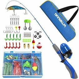 PLUSINNO Kids Fishing Pole,Portable Telescopic Fishing Rod a