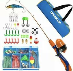 PLUSINNO Kids Fishing Pole,Portable Telescopic Fishing Rod a