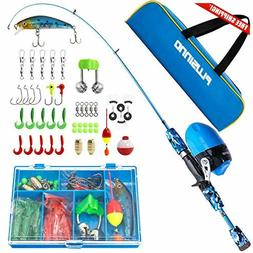 PLUSINNO Kids Fishing Pole with Spincast Reel Telescopic Fis