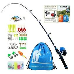 YONGZHI Kids Fishing Pole with Spincast Reel Telescopic Fish