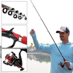 Kids Fishing Rod & Reel Combos Pole Set,Portable Telescopic