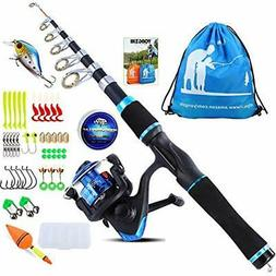 YONGZHI Kids Rod & Reel Combos Fishing Pole With Spinning Re