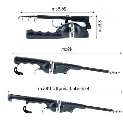 1.4m Foldable Fishing Built-in with 80m Line Fish Rod