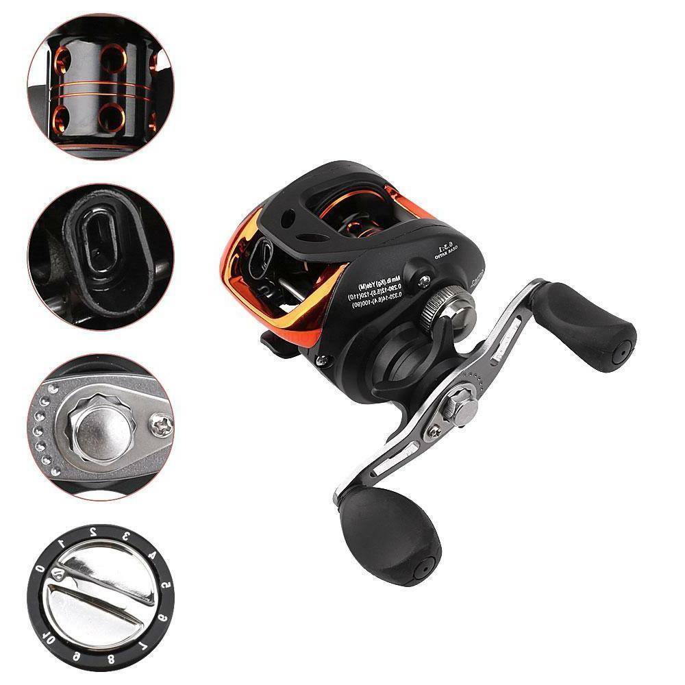2.1M Portable Fishing Rod with Black 10+1 Ball Bearing Reel
