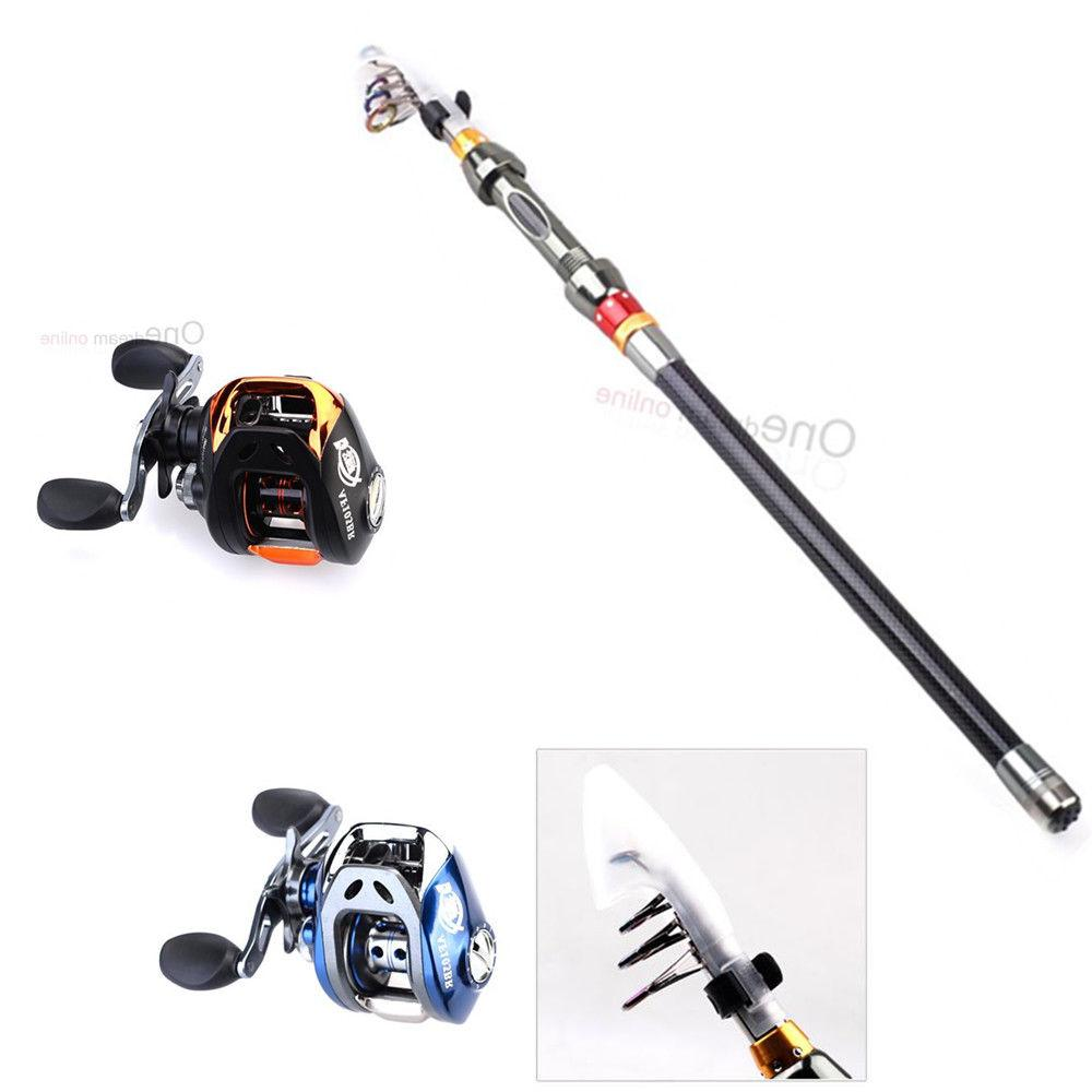 2 1m portable fishing rod with black