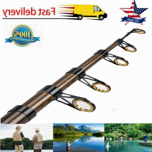 2.7M Fishing Rod Ultralight Carbon Fiber Telescopic Sea Spin