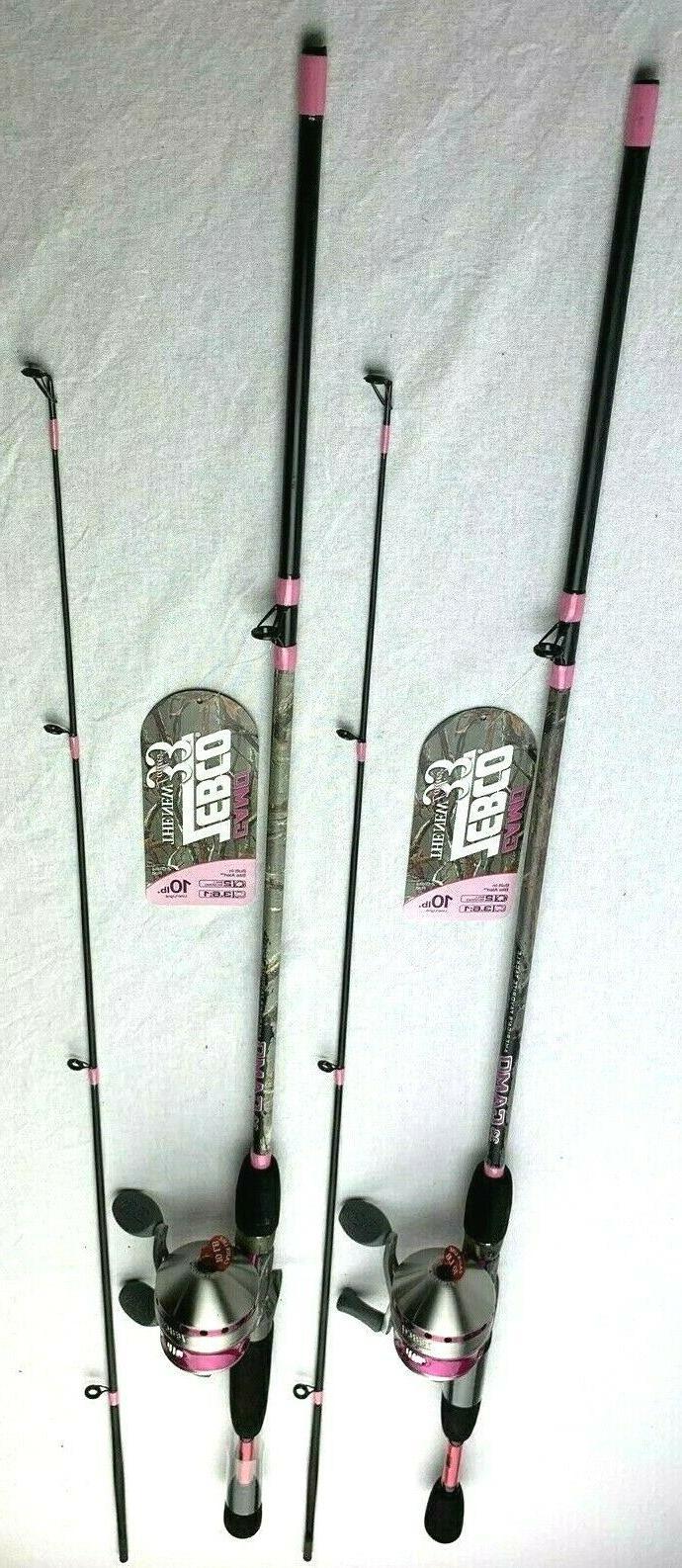 2 Ladies Reel With Pink 2 Piece Rod