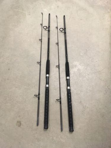2 Fusion Spinning Rods MH Action Saltwater 10-25lb