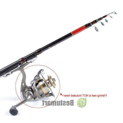 2xProfessional Fiber Fishing Rod Spinning Rod 2.1m