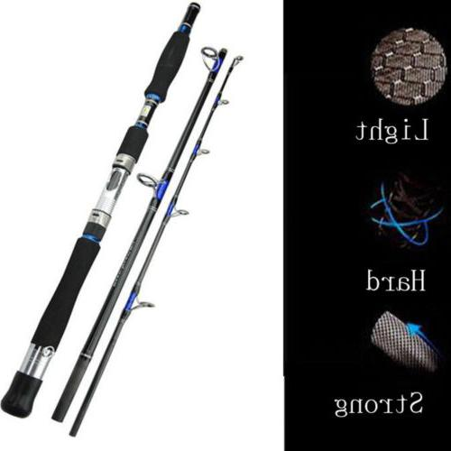 Silver-Rhino Saltwater Fishing Rod 30Ibs-50lbs Offshore Jigg