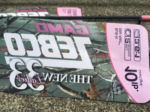 Zebco 33 Ladies Camo 6' 2-Piece Medium Spincast Combo