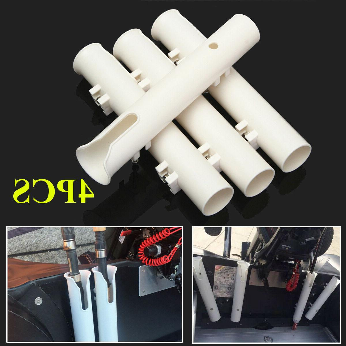 "4Pcs/ Set White 12"" Boat Holders Boat Rod"