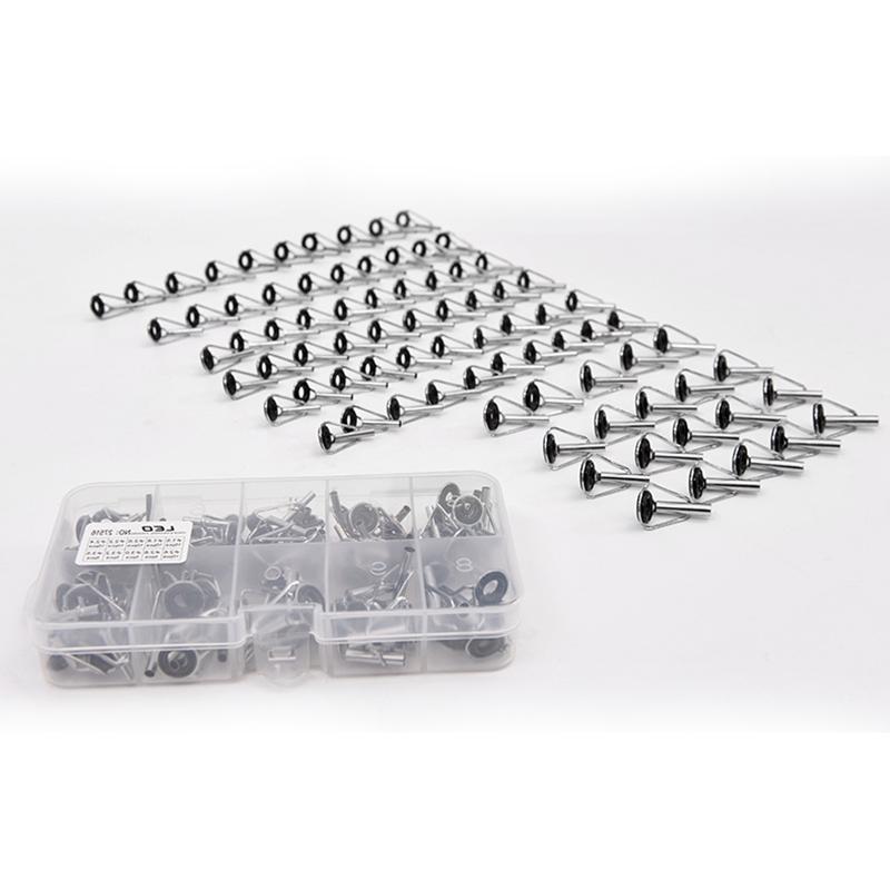 80PACK Ceramic Guide Tips Eye Rings Repair Kits 10 Sizes US