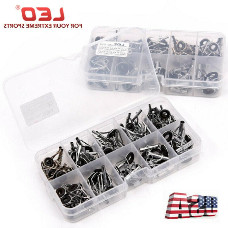 80pack ceramic fishing rod guide tips top