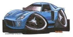 Kool Art - Ford GT 40 Car - Sticker/Decal