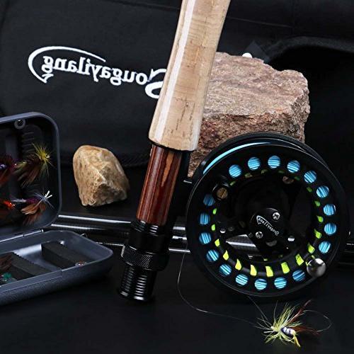 Sougayilang Saltwater Freshwater Fishing Reel Lines Flies Combo Kit