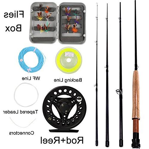 Sougayilang Saltwater Freshwater Fly Fishing Rod with Reel L