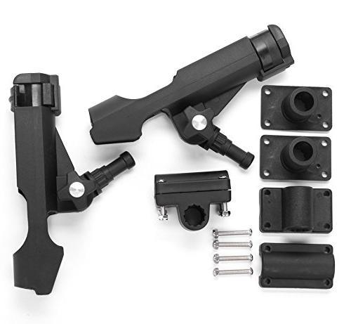 Bekith 2 Adjustable Powerlock Holder with Combo Mount, Black Finish