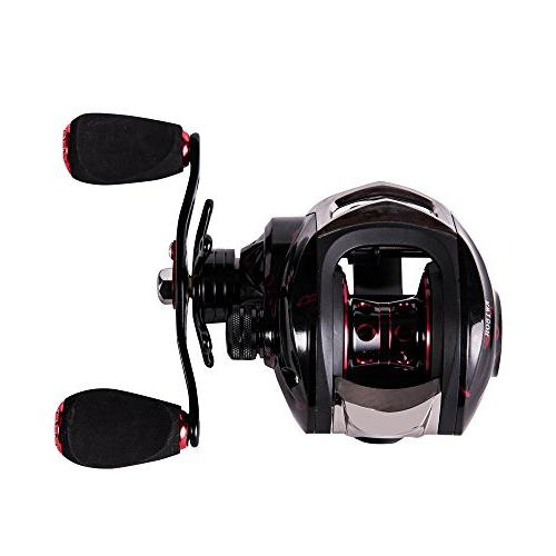 Entsport New 14+1 Ball Bearings Low Profile Baitcaster Smooth Magnetic Brake System Baitcast Reel Bait Casting Fishing Reel