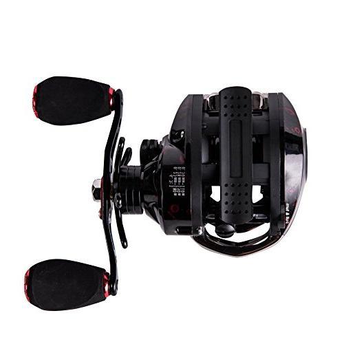Entsport Profile Casting Baitcaster Fishing Reel Ultra Smooth Magnetic Brake Fishing