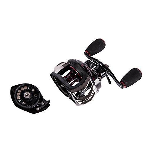 Entsport 14+1 Bearings Profile Baitcaster Reel Ultra Smooth Magnetic Baitcast Reel Bait Fishing