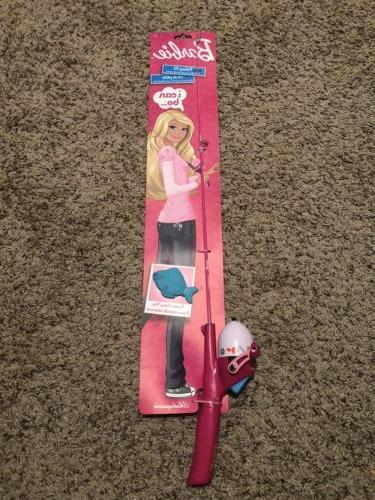 barbie fishing pole rod reel