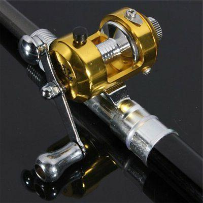 Black Mini Pocket Pen Alloy Fishing Reel