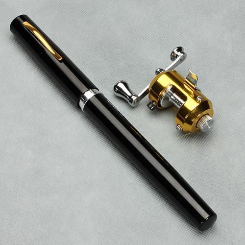black mini portable pocket pen