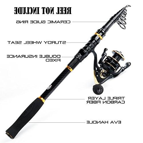 TROUTBOY Rod - 24 Carbon Portable Telescopic Fishing with CNC Seat, Stainless Steel EVA