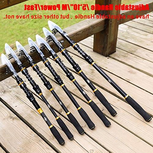 TROUTBOY Warrior Rod - Carbon Fiber Portable Fishing with CNC Machined Reel Seat, Stainless EVA