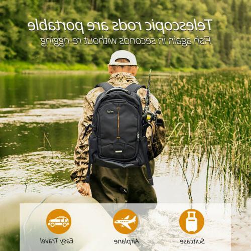 KastKing II 24-Ton Carbon Fiber Spinning Travel Fishing