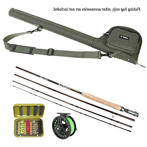 Lixada Bag, Portable Fishing Rod Case Water-Proof Rod Reel Storage Tubes Cases, Fishing Rod Fly Fishing with