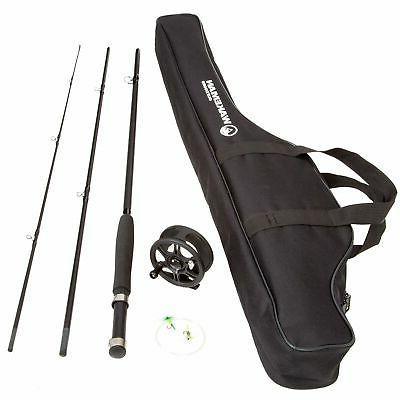 Fishing Reel Combo With Case Piece Feet Black New