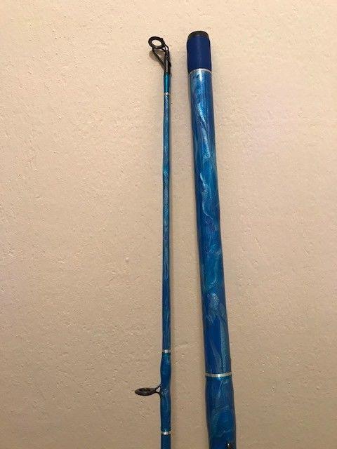 custom fishing surf casting or pier rod