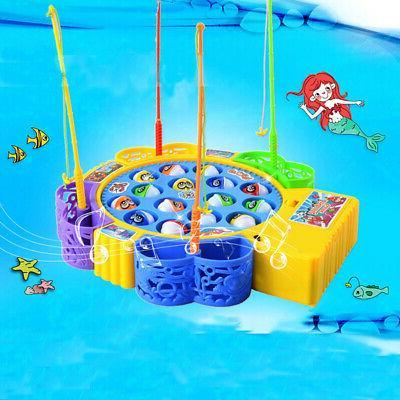 Children Educational Electric Rotating Fish Fishing Rod Game