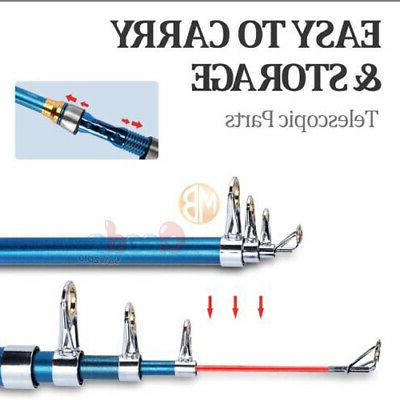2.1M Fishing Rod Carbon Fiber Telescopic Sea Spinning Pole