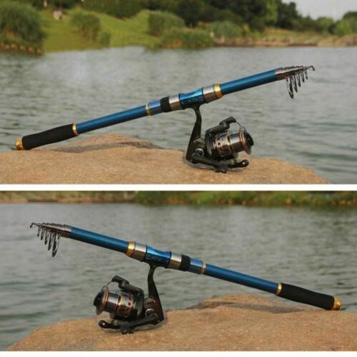Professional Carbon Fiber Telescopic Fishing Rod Travel Spin