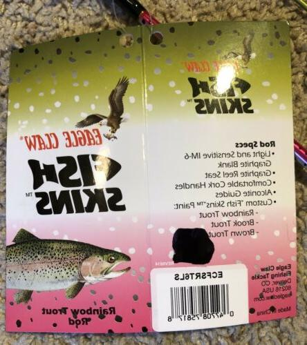 Eagle Claw Skins Spinning Rod Pc Rod Light Rainbow Trout