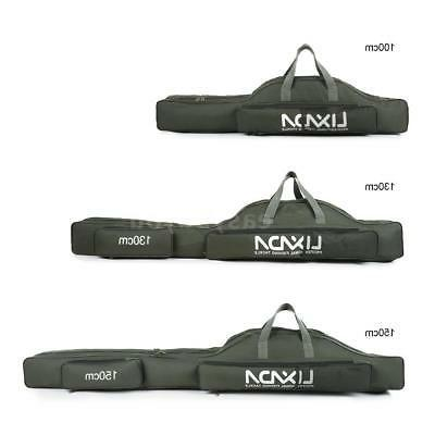 Lixada Fishing Bag Portable Folding Fishing Rod Reel Storage
